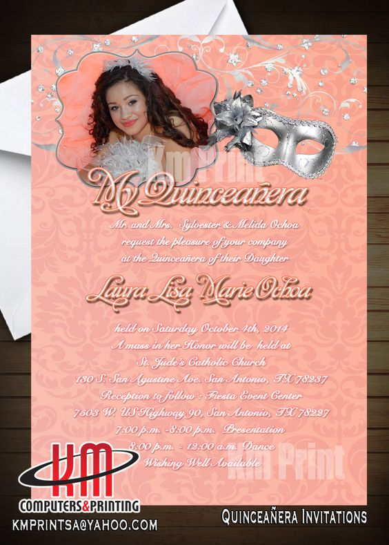 Custom Quinceanera Invitations Custom Quinceanera Invitations