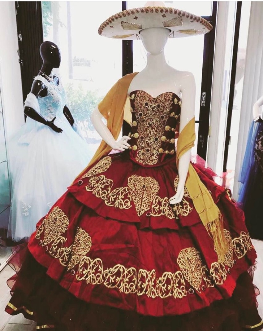 to wear - Dresses Quinceanera mariachi style video