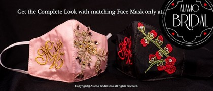 matching face masks for quinceanera dresses