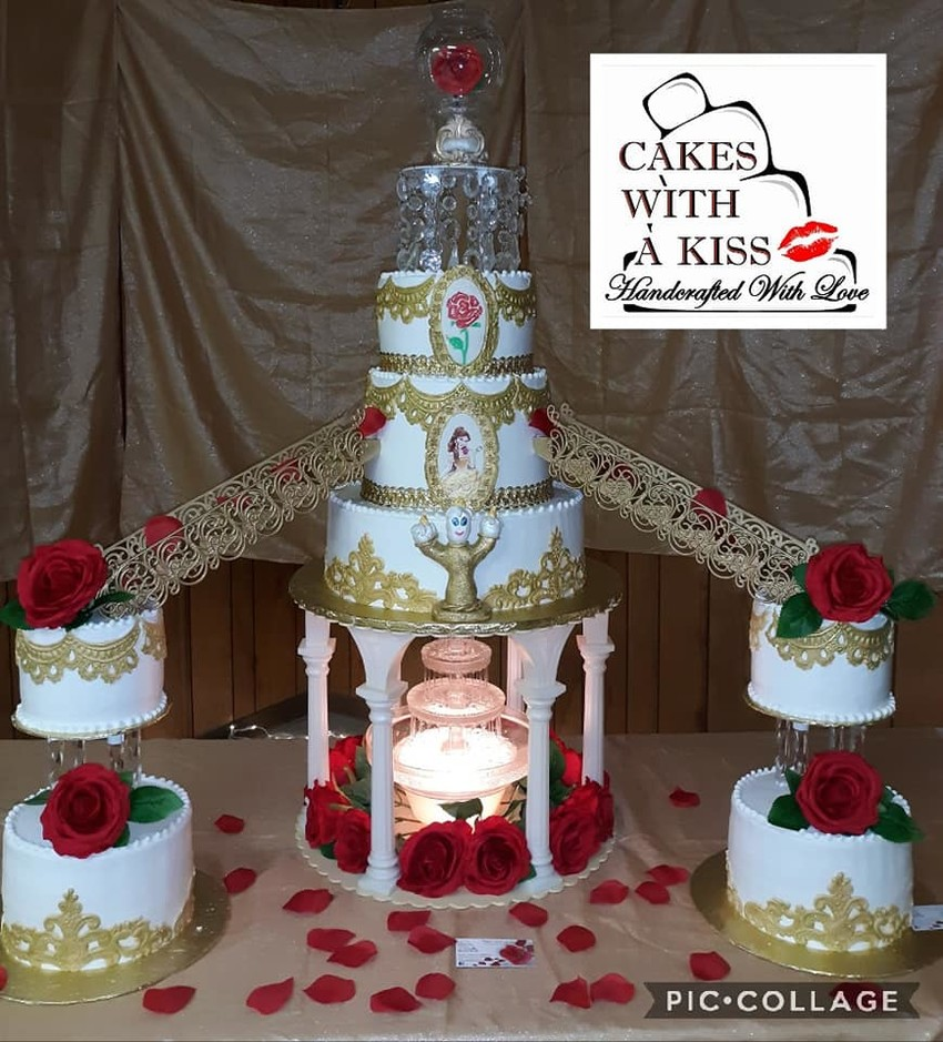 beauty and the beast quinceanera cake san antonio