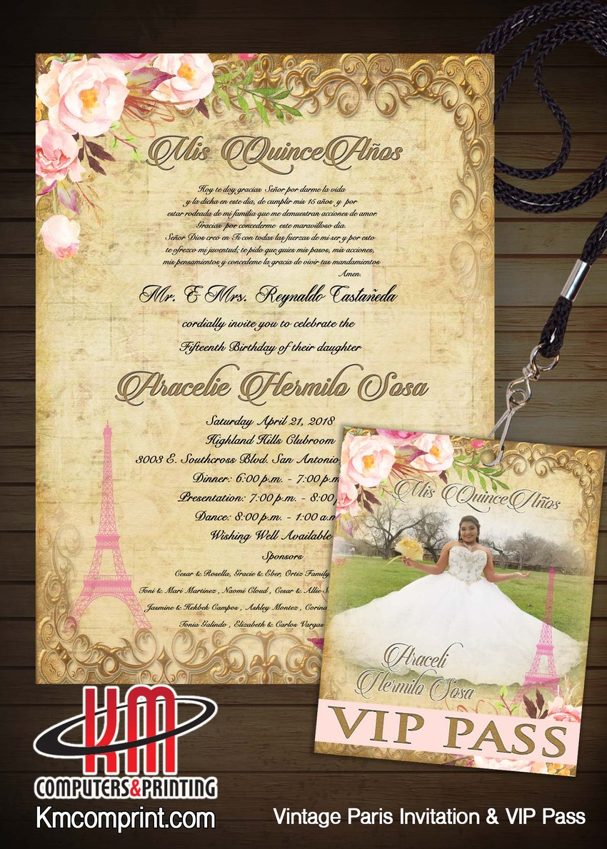 Km Print Custom Invitations San Antonio Custom